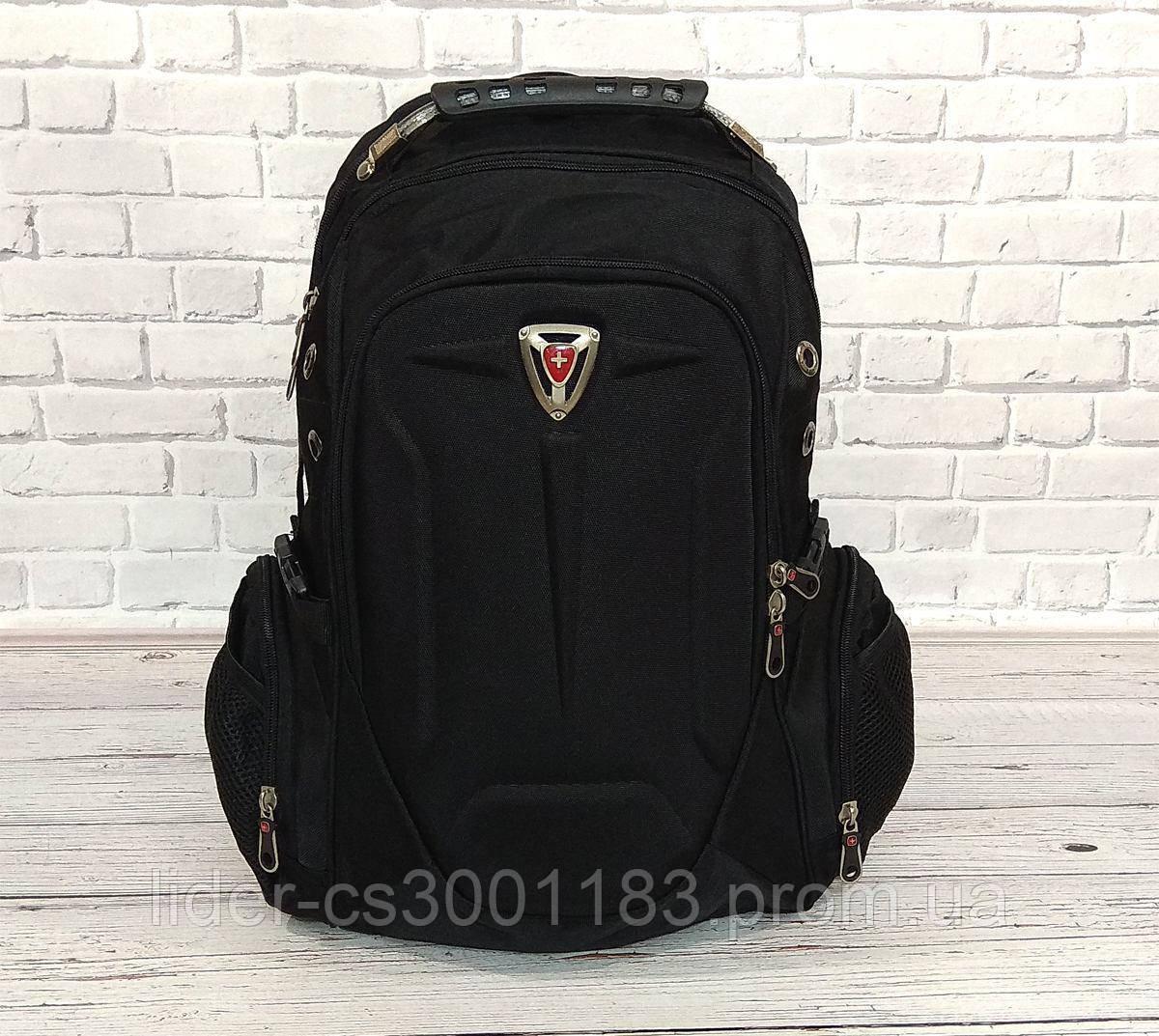 Місткий рюкзак SwissGear Wenger, свисгир. Чорний. 35L / s7655 black