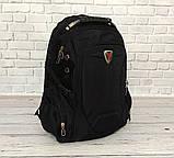 Місткий рюкзак SwissGear Wenger, свисгир. Чорний. 35L / s7655 black, фото 2
