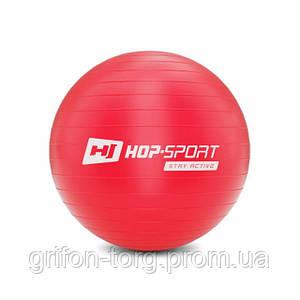 Фітбол Hop-Sport 45cm HS-R045YB red + насос