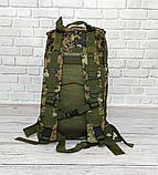 Тактичний, похідний рюкзак Military. 25 L. Камуфляжний, піксель, мілітарі. / T412, фото 6