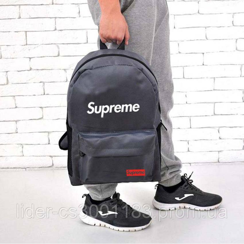 Популярная модель рюкзака Supreme, суприм для молодежи. Серый / sp4