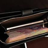 Стильний чоловічий шкіряний клатч, гаманець. Чорний. Baellerry Active. Балери, фото 4