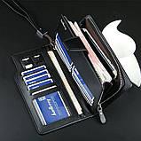 Стильний чоловічий шкіряний клатч, гаманець. Чорний. Baellerry Active. Балери, фото 8