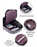 Однолямочный рюкзак, бананка протикрадій Bobby mini + USB порт і вихід для навушників., фото 2