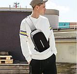 Однолямочный рюкзак, бананка протикрадій Bobby mini + USB порт і вихід для навушників., фото 3