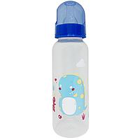 Бутылочка с соской (250 мл.)(синяя)