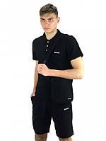 Костюм мужской Reebok шорты , футболка черная + барсетка в подарок