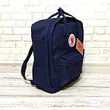Комплект рюкзак, сумка + органайзер Fjallraven Kanken Classic, канкен класик. Темно-синий, dark blue, фото 4