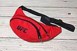 Поясная сумка, Бананка, барсетка юфс, UFC. Красная, фото 2
