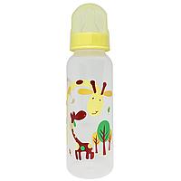 Бутылочка с соской (250 мл.)(жёлтая)