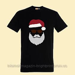 """Чоловіча футболка з принтом """"Брутальний Санта"""""""