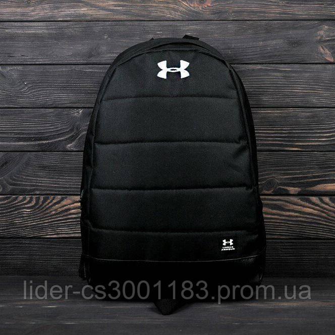 Стильный городской, спортивный рюкзак Under Armour. Отличное качество. Черный