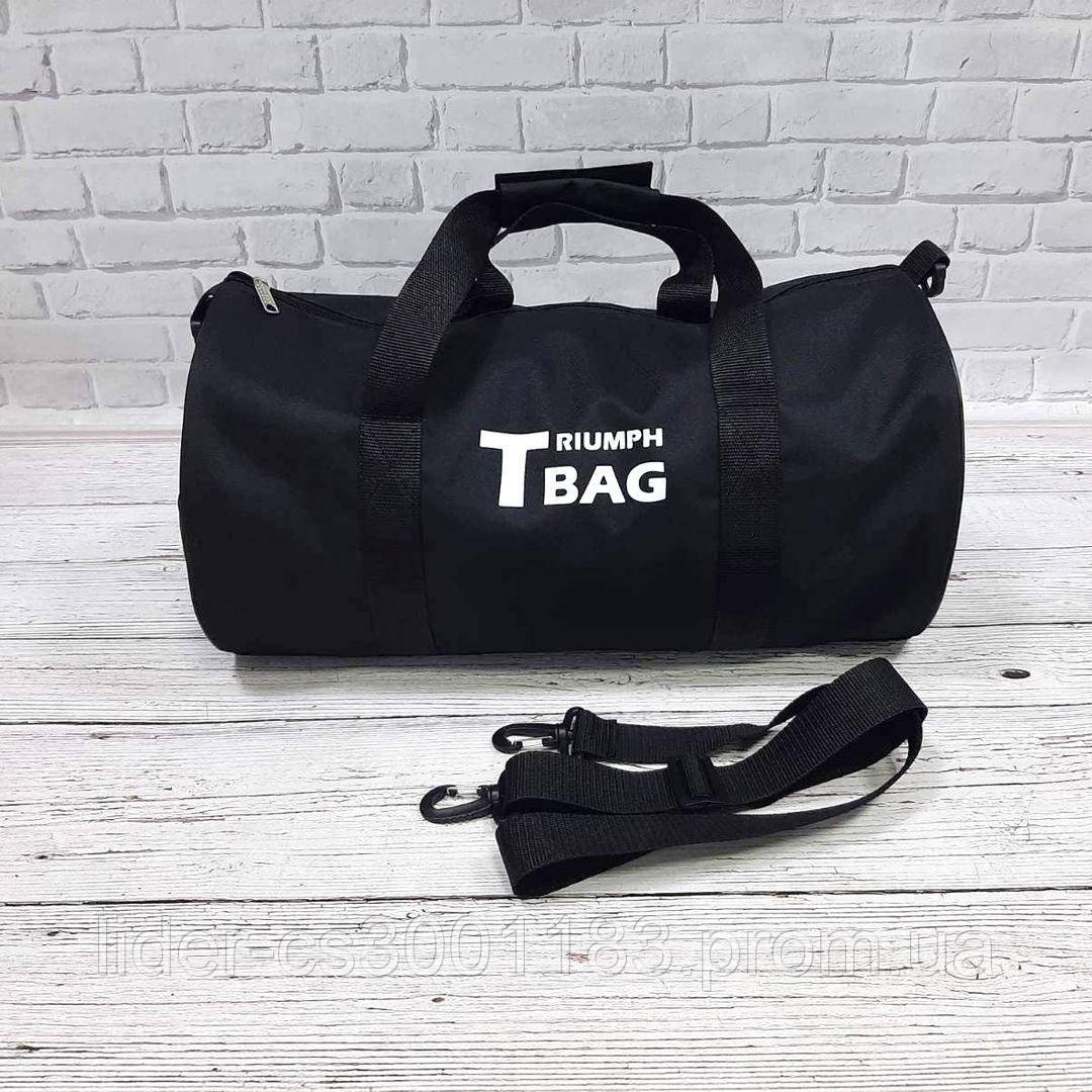 Спортивная сумка бочонок Triumph Bag. Для тренировок, путешествий. Черная
