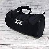 Спортивная сумка бочонок Triumph Bag. Для тренировок, путешествий. Черная, фото 7