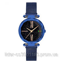 Стильные женские часы Starry Sky Watch. Синие. Скай воч.