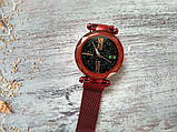 Стильные женские часы Starry Sky Watch. Красные. Скай воч., фото 5