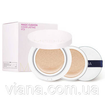 Набор стойким покрытием MISSHA M Magic Cushion Cover Lasting SPF50  21 Light Beige