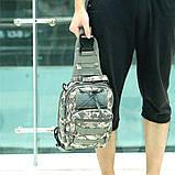 Тактическая сумка-рюкзак, барсетка, бананка на одной лямке, пиксель., фото 6