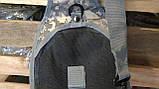 Тактическая сумка-рюкзак, барсетка, бананка на одной лямке, пиксель., фото 8