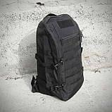 Чорний Тактичний, похідний рюкзак Military. 20 L., мілітарі, армійський. / T0453, фото 7