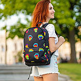 Крутой женский рюкзак с принтом Губы. Для учебы, путешествий, тренировок, фото 4