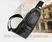 Сумка-рюкзак на одне плече, кобура, слінг Jeep 1941. Чорна / J1941 black