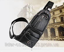 Сумка-рюкзак на одно плечо, кобура, слинг Jeep 1941. Черная / J1941 black
