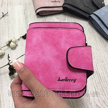 Жіночий гаманець, клатч Baellerry Forever Mini, балери. Яскраво рожевий. Замша PU