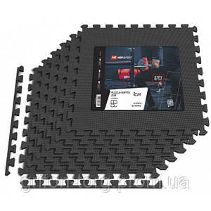Мат-пазл EVA 1cm HS-A010PM - 6 частин чорний