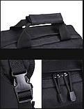 Тактическая сумка-рюкзак, мессенджер, портфель. Черный, фото 4