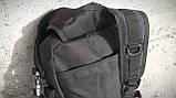 Тактическая сумка-рюкзак, мессенджер, портфель. Черный, фото 6