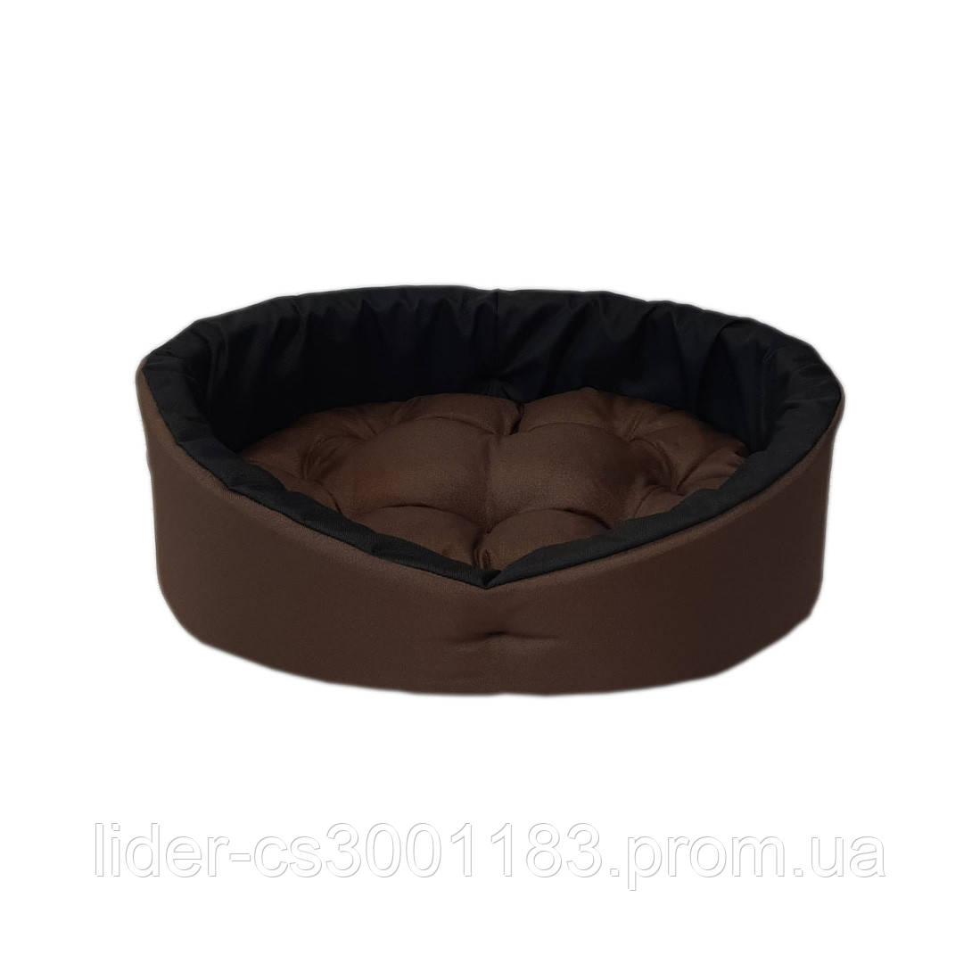 Лежанка, лежак для собак і кішок. Коричневий з чорним