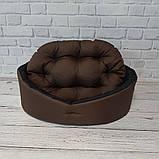 Лежанка, лежак для собак і кішок. Коричневий з чорним, фото 2