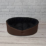 Лежанка, лежак для собак і кішок. Коричневий з чорним, фото 5