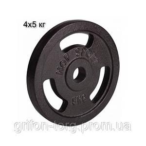 Сет з металевих дисків 4х5 кг