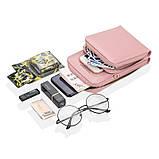 Жіночий гаманець-клатч, сумочка Baellerry Show You. Пудровий, фото 3