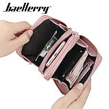 Жіночий гаманець-клатч, сумочка Baellerry Show You. Пудровий, фото 6