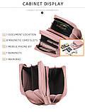 Жіночий гаманець-клатч, сумочка Baellerry Show You. Пудровий, фото 9