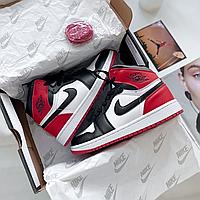 Женские кроссовки Nike Air Jordan Red Black аир джордан красные