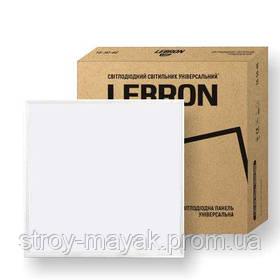 Панельный светодиодный светильник LED LEBRON L-LPU 40W, 595*595*25мм, 6200K, 3200LM дневной свет