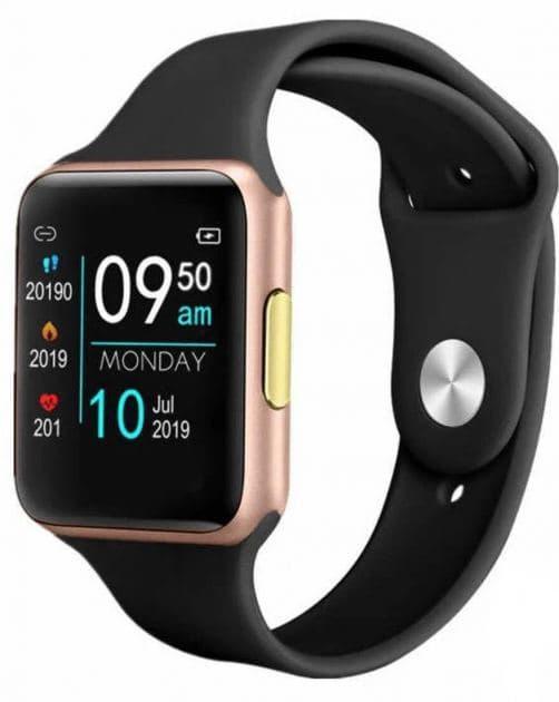 Смарт часы Smart Watch FINOW Е06  Gold  +нейлоновый  ремешок