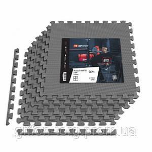 Мат-пазл EVA 1cm HS-A010PM - 6 частин сірий