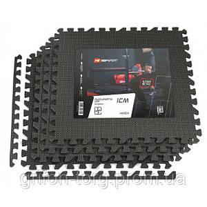 Мат-пазл EVA 1cm HS-A009PM - 4 частини чорний