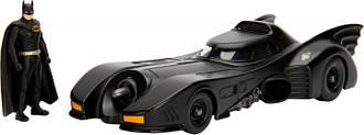 Машина металлическая Jada Бэтмен (1989) Бэтмобиль + фигурка Бэтмена 1:24  253215002