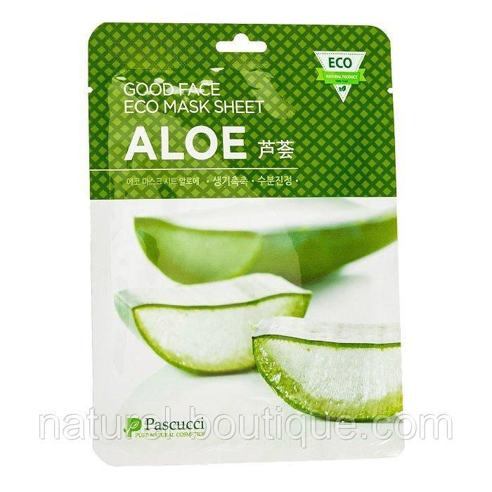 Маска тканевая для лица Amicell Pascucci Good Face  Eco Aloe с экстрактом алоэ