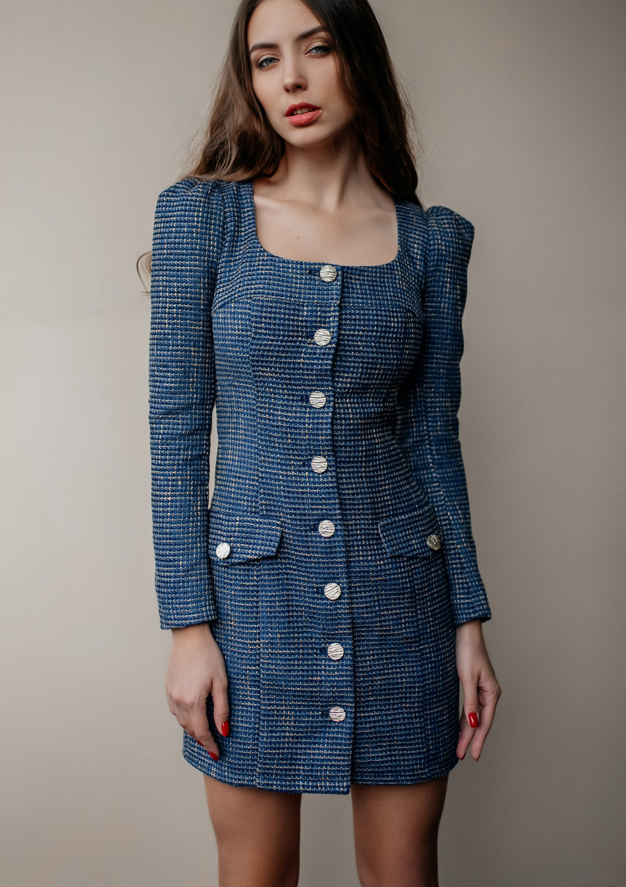 Нарядное платье из твида