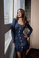 Нарядное платье из твида, фото 3