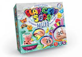 Пластилінове мило Play Clay Soap 8 кольорів + 3 формочки PCS-01