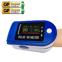 Пульсометр на палець Pulse Fingertip Oximeter пульсоксиметр електронний X-1906