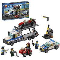"""Конструктор для мальчиков """"Ограбление трейлера автовоза"""" Bela Urban. Совместим с Lego. От 5 лет. арт. 10658"""